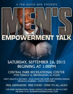 Mens Empowerment Talk - AFGM - 09.26.2015
