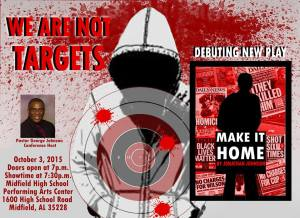 We Are Not Targets Flyer
